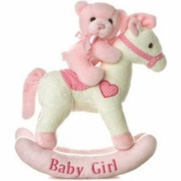 "Aurora 12"" Baby Girl Rocking Horse Musical"