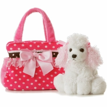 "Aurora 8"" Fancy Pink Polks Dot Dog"