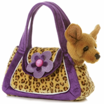 "Aurora 8"" Fancy Leopard Print Dog"