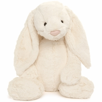 "Jellycat Bashful 24"" Huge Bunny in Cream"