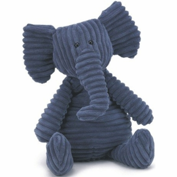 "Jellycat Cordy 15"" Medium Roy Elephant in Navy Blue"