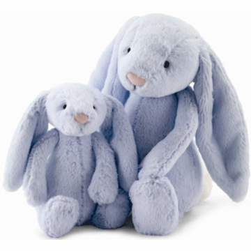 Jellycat Beginnings Bunny with  Rattle in Blue