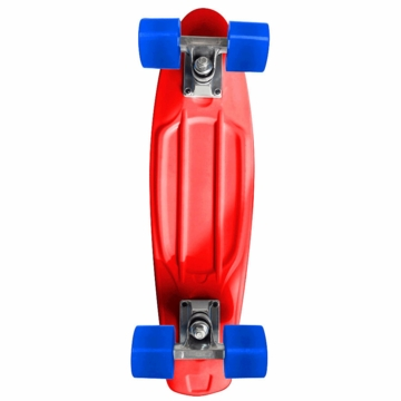 Chicago Skates Cruiser Retro Skateboard - Red with Blue Wheels