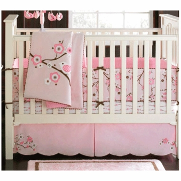MiGi Blossom 3 Piece Crib Bedding Set