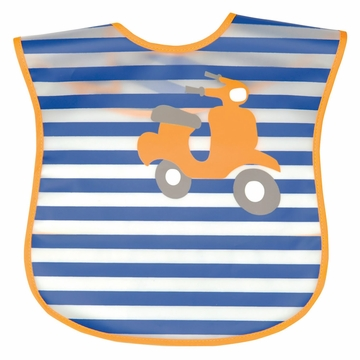 iPlay Wash 'n Wipe Bib - Navy Scooter (Stage 4)