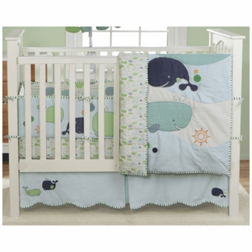 MiGi Little Whale 3 Piece Crib Bedding Set