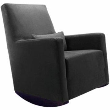 Monte Design Alto Rocker in Black Bonded Leather