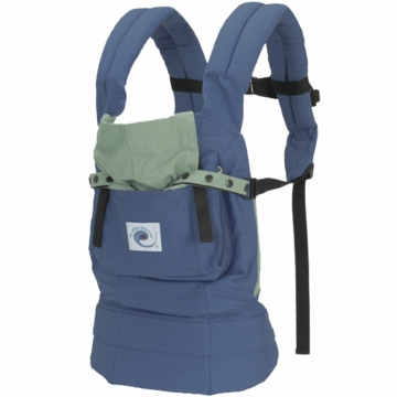 Ergo Baby Carrier in Blue with Solid Green Lining - D