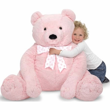 Melissa & Doug Jumbo Teddy Bear Plush in Pink