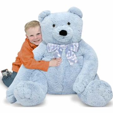 Melissa & Doug Jumbo Teddy Bear Plush in Blue