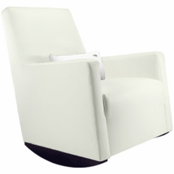 Monte Design Alto Rocker in White Bonded Leather