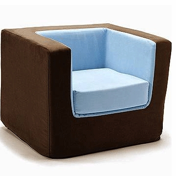 Monte Design Cubino Chair in Brown/Light Blue