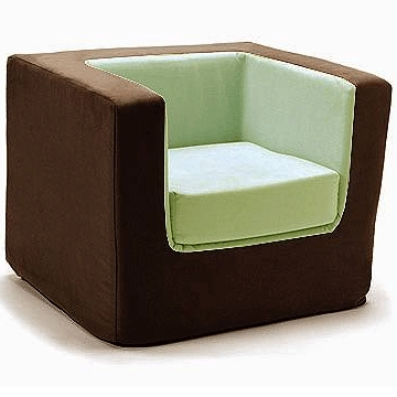 Monte Design Cubino Chair in Brown/Lime Green