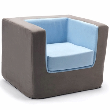 Monte Design Cubino Chair in Charcoal/Light Blue