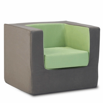 Monte Design Cubino Chair in Charcoal/Lime Green