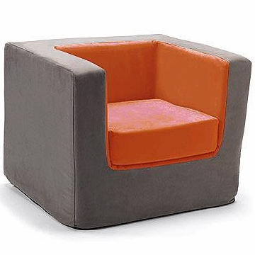 Monte Design Cubino Chair in Charcoal/Orange