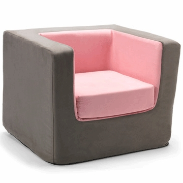 Monte Design Cubino Chair in Charcoal/Pink