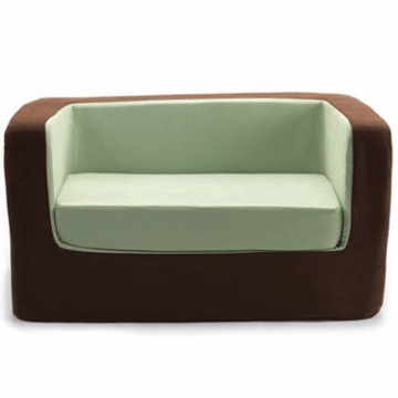 Monte Design Cubino Loveseat in Brown/Lime Green