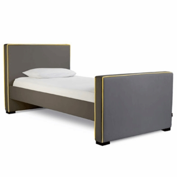 Monte Design Dorma Twin Bed in Charcoal