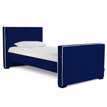 Monte Design Dorma Twin Bed in Navy Blue