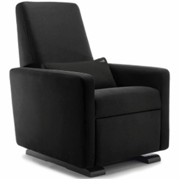 Monte Design Grano Glider Recliner in Black Bonded Leather