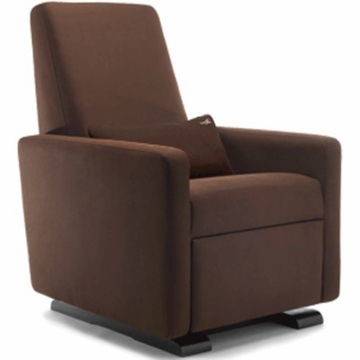 Monte Design Grano Glider Recliner in Brown Bonded Leather