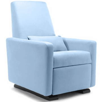 Monte Design Grano Glider Recliner in Light Blue
