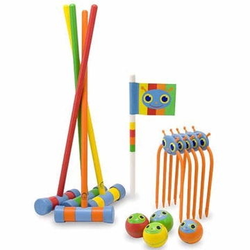 Melissa & Doug Happy Giddy Croquet Set