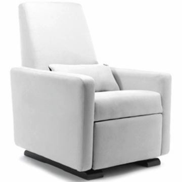 Monte Design Grano Glider Recliner in White Bonded Leather