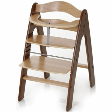 I'Coo Pharo Wooden Highchair in Walnut/Natural