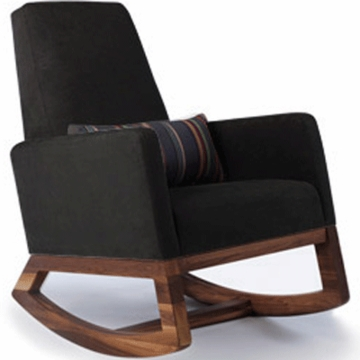 Monte Design Joya Rocker Walnut Base in Black