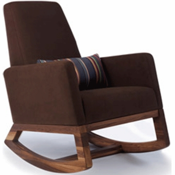 Monte Design Joya Rocker Walnut Base in Brown