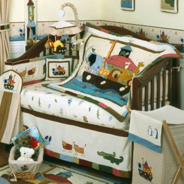 KidsLine Two by Two 6 Piece Crib Bedding Set