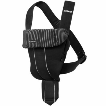 BabyBj�rn Original Infant Carrier Black Pinstripe