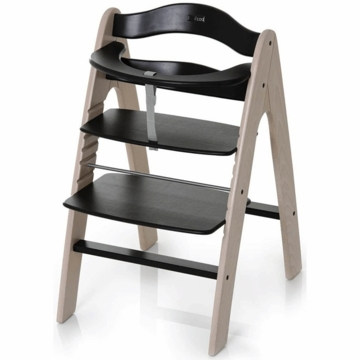 I'Coo Pharo Wooden Highchair in Black/Whitewash