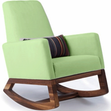 Monte Design Joya Rocker Walnut Base in Lime Green