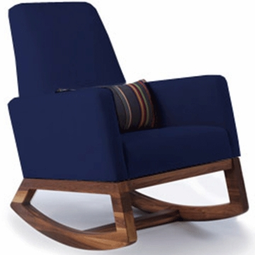 Monte Design Joya Rocker Walnut Base in Navy Blue