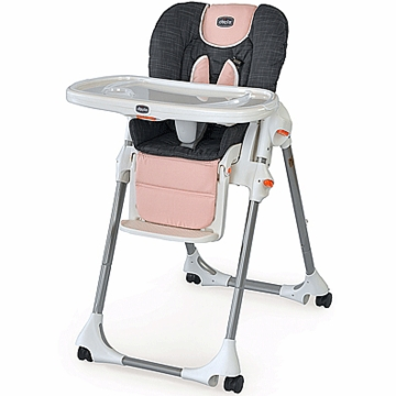 Chicco Polly Highchair Double-Pad Fabric Bella Pink