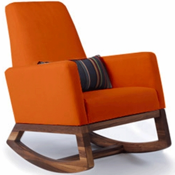 Monte Design Joya Rocker Walnut Base in Orange