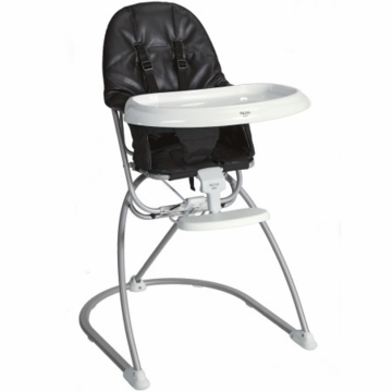 Valco Astro Compact Leatherette High Chair - Graphite Black