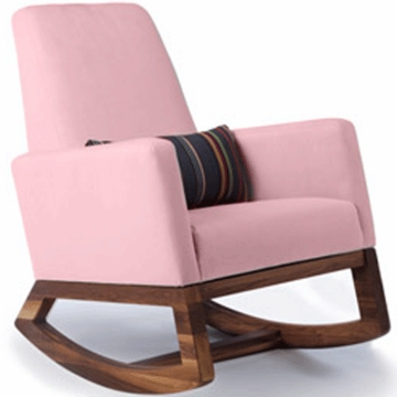 Monte Design Joya Rocker Walnut Base in Pink
