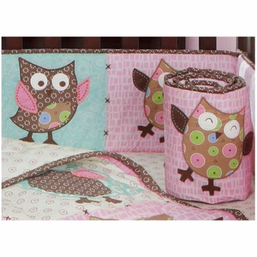 Bananafish Calico Owls Crib Bumper