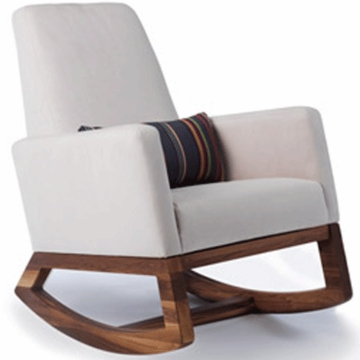 Monte Design Joya Rocker Walnut Base in Stone
