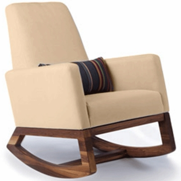 Monte Design Joya Rocker Walnut Base in Tan