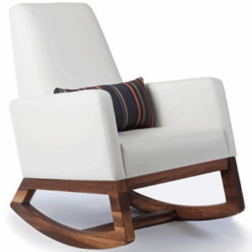 Monte Design Joya Rocker Walnut Base in White