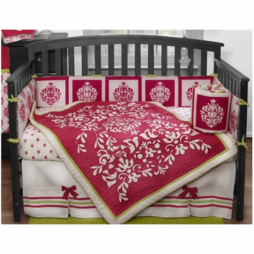 Bananafish Damask 3 Piece Crib Bedding Set