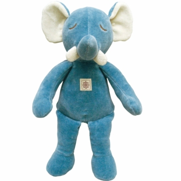 "MiYim Storybook Ellie 11"" Organic Plush Blue Elephant"