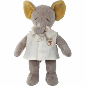 "MiYim Fairytale Baby Elle 9"" Organic Plush Elephant with Outfit"