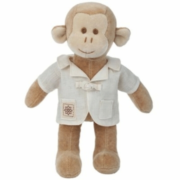 "MiYim Fairytale Baby Fred 9"" Organic Plush Monkey with Outfit"