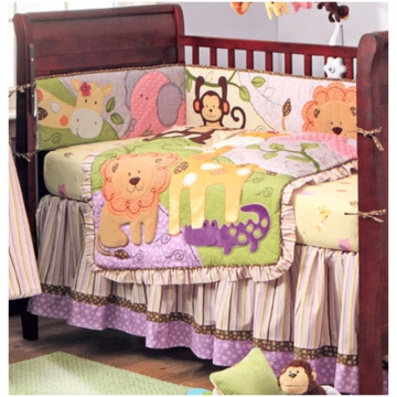 Bananafish Jungle BFF 3 Piece Crib Bedding Set
